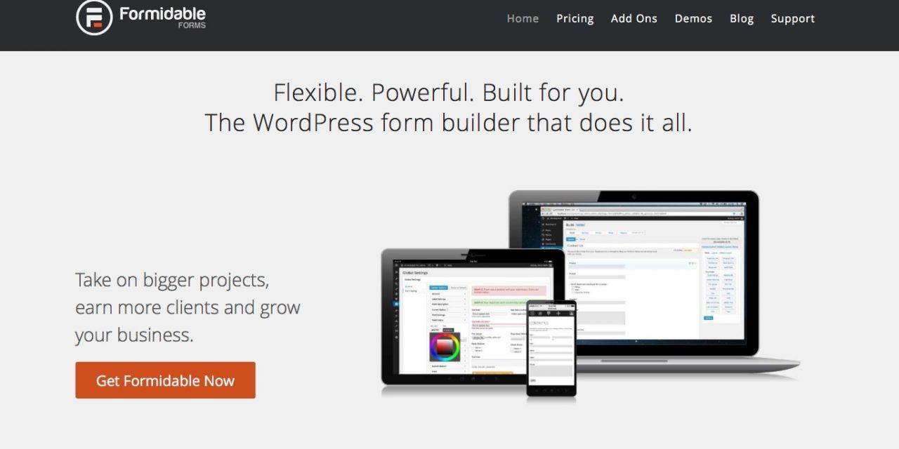 Formidable; a wordpress form builder